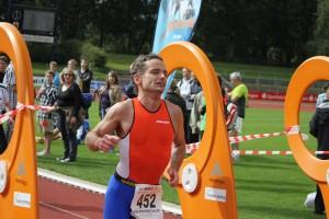 Zieleinlauf beim Göttingen Triathlon