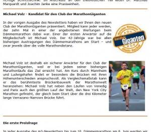 MLP Marathon Mannheim Rhein-Neckar Newsletter 3-1/2013